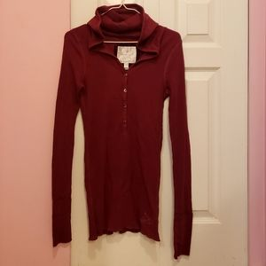 American Eagle Outfitter Waffle Henley Hoodie